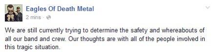 Status rockovej skupiny na Facebooku