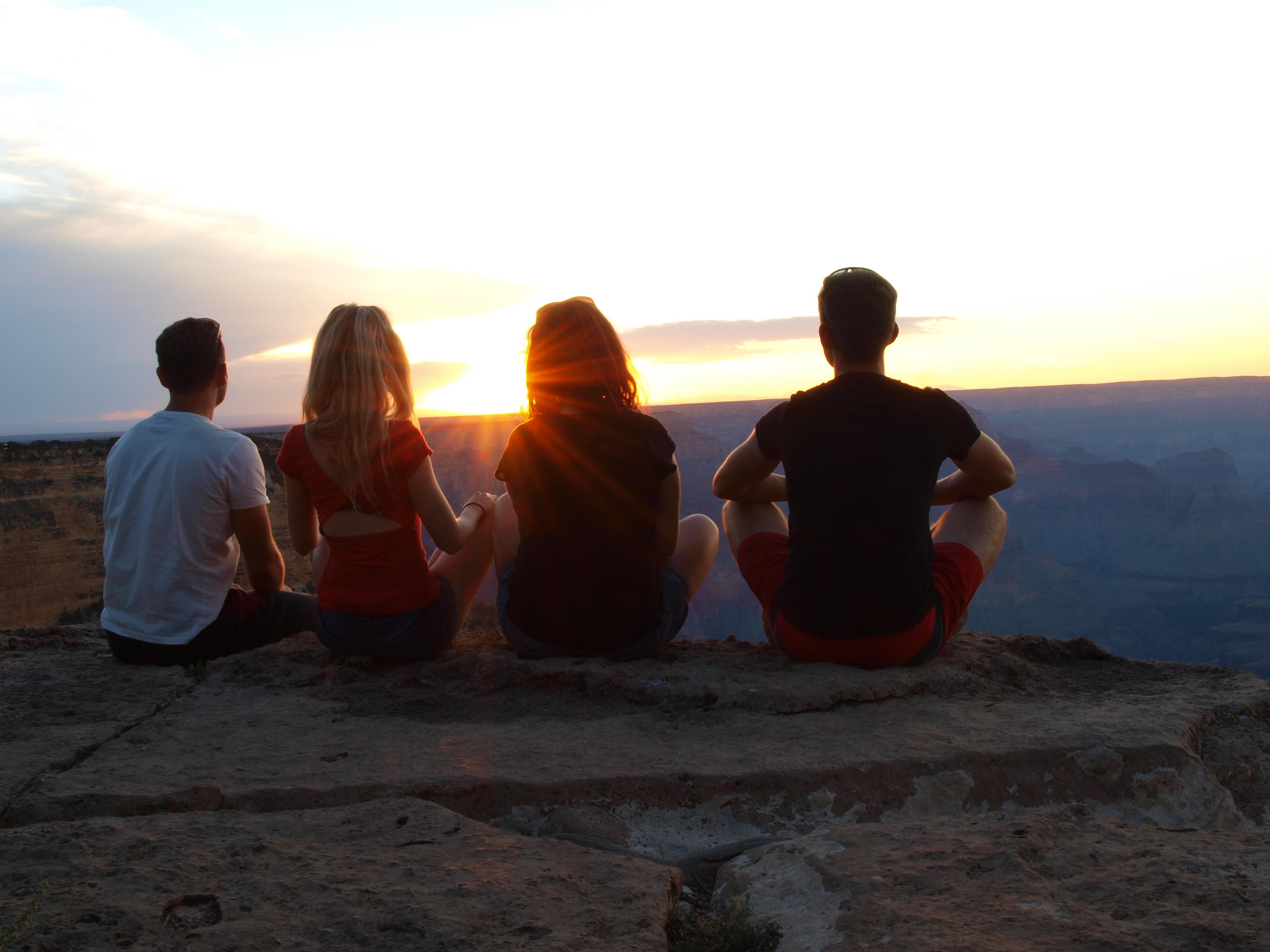 Západ slnka v Grand Canyone. (Zdroj: archív autorky)