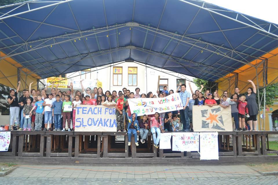 Záverečné vystúpenie žiakov Letnej školy TFS v Kežmarku. Zdroj: Facebook