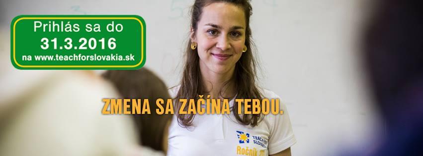 Teach for Slovakia: Veríme, že medzi účastníkmi máme aj ministra či ministerku školstva