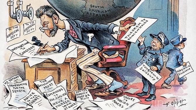 cartoon picture of Pulitzer