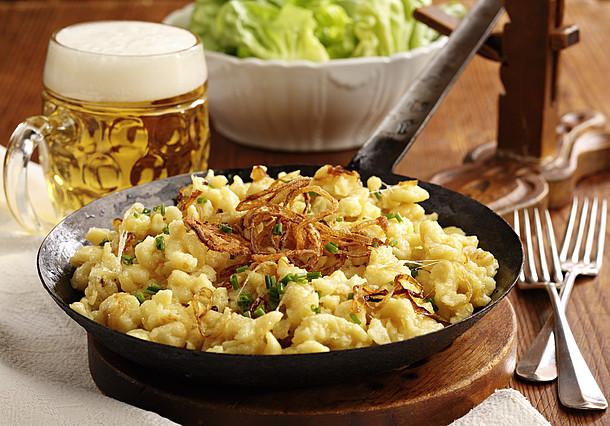 Käsespätzle - nemecké jedlo podobné našim bryndzovým haluškám. (ilustračné foto)