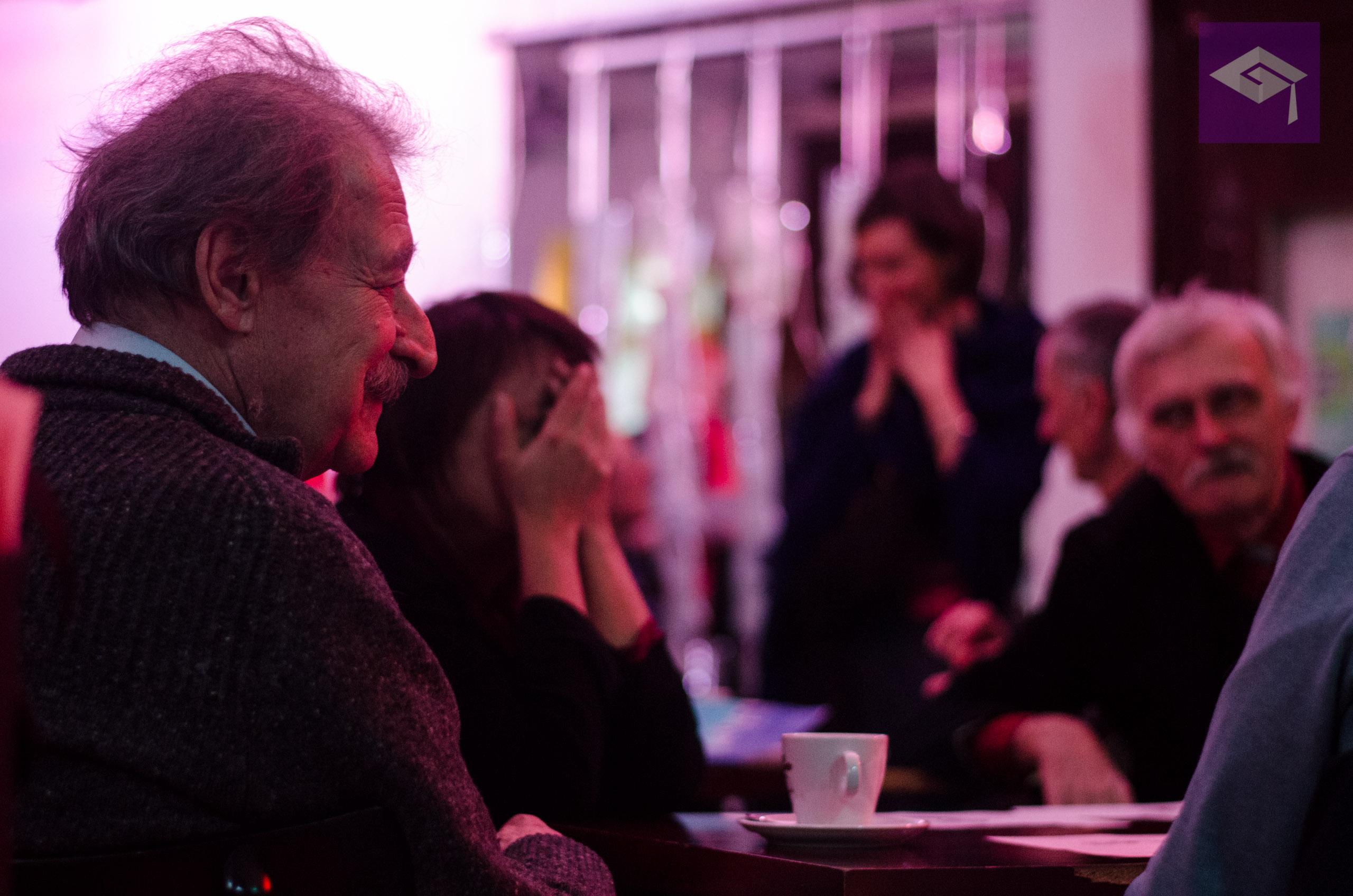 Spisovateľ Tomáš Janovic ako jeden z Kaliho hostí literárneho cirkusu. foto/ Jakub Kňažko