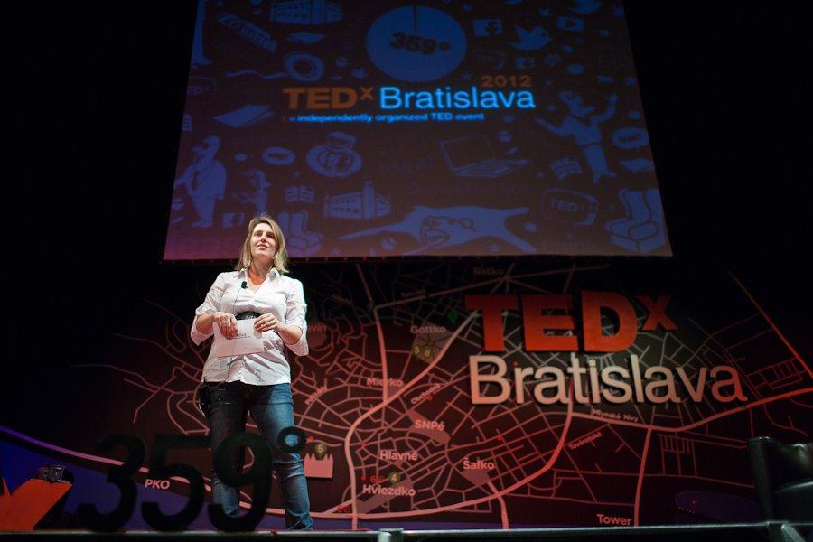 V. Pizano pracovala pre TEDxBratislava ako dobrovoľníčka. Foto: archív TEDx