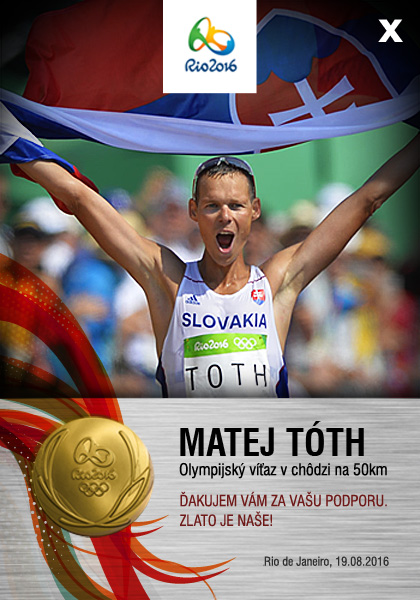 Olympijský víťaz Matej Tóth, zdroj web stránka M. Tótha