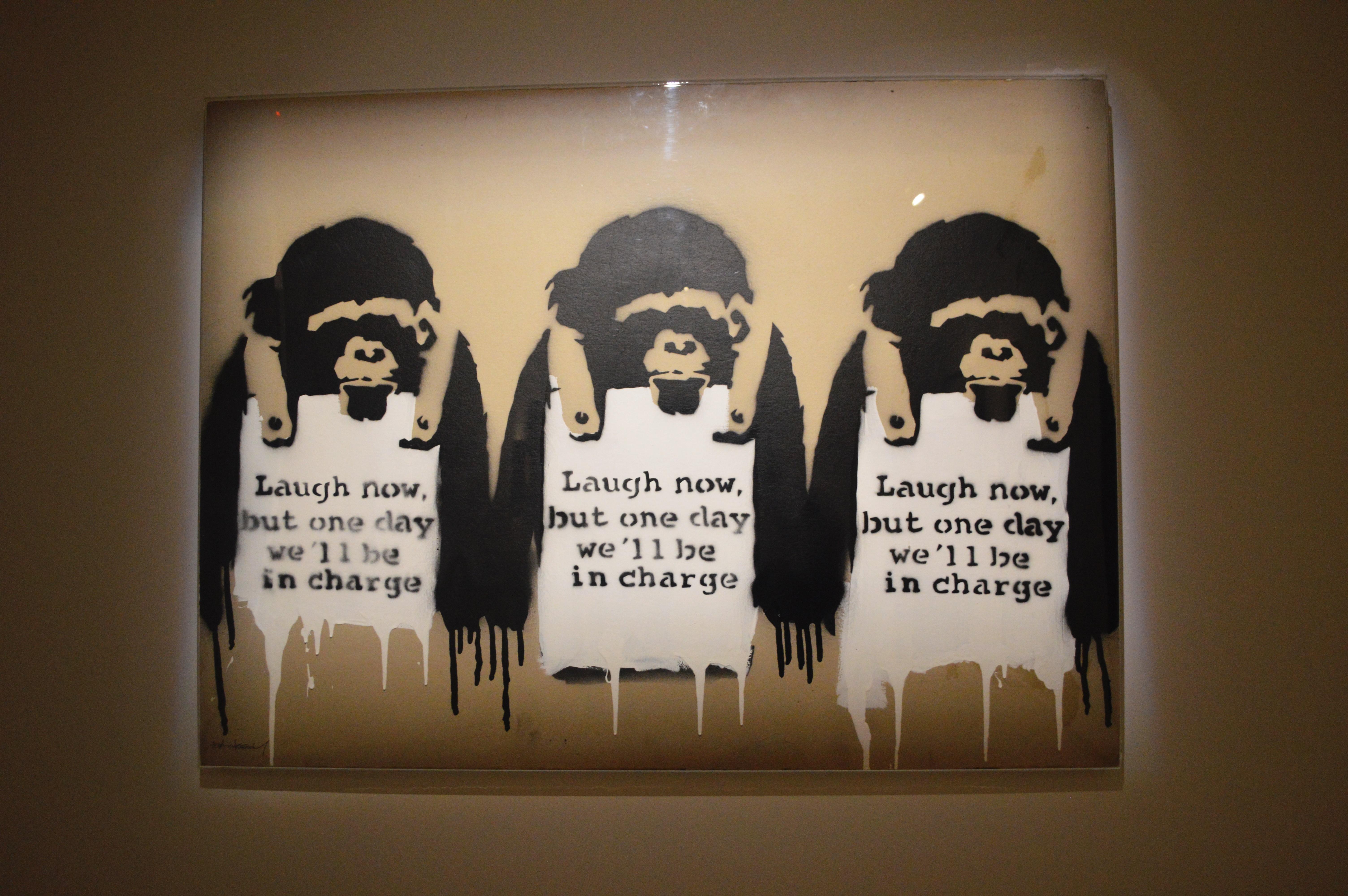 Banksy - War, Capitalism & Liberty (zdroj: PK)