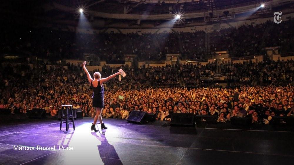 Zaplnená aréna v D.C. počas turné. Zdroj: Twitter.com (@amyschumer)