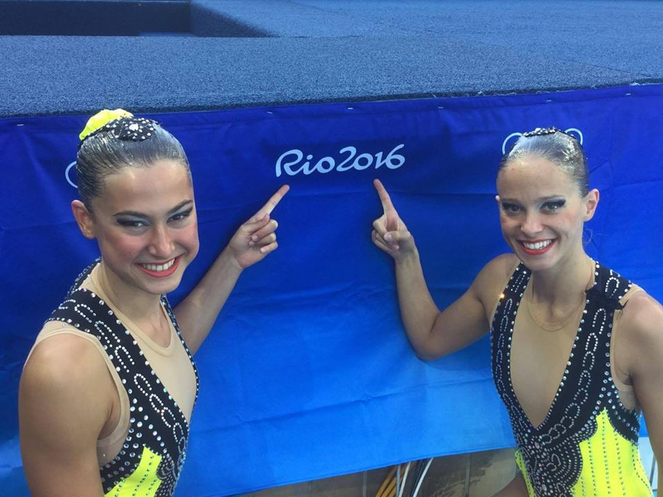 Slovenské reprezentantky Nada Daabousová a Jana Labáthová na olympiáde v Riu.