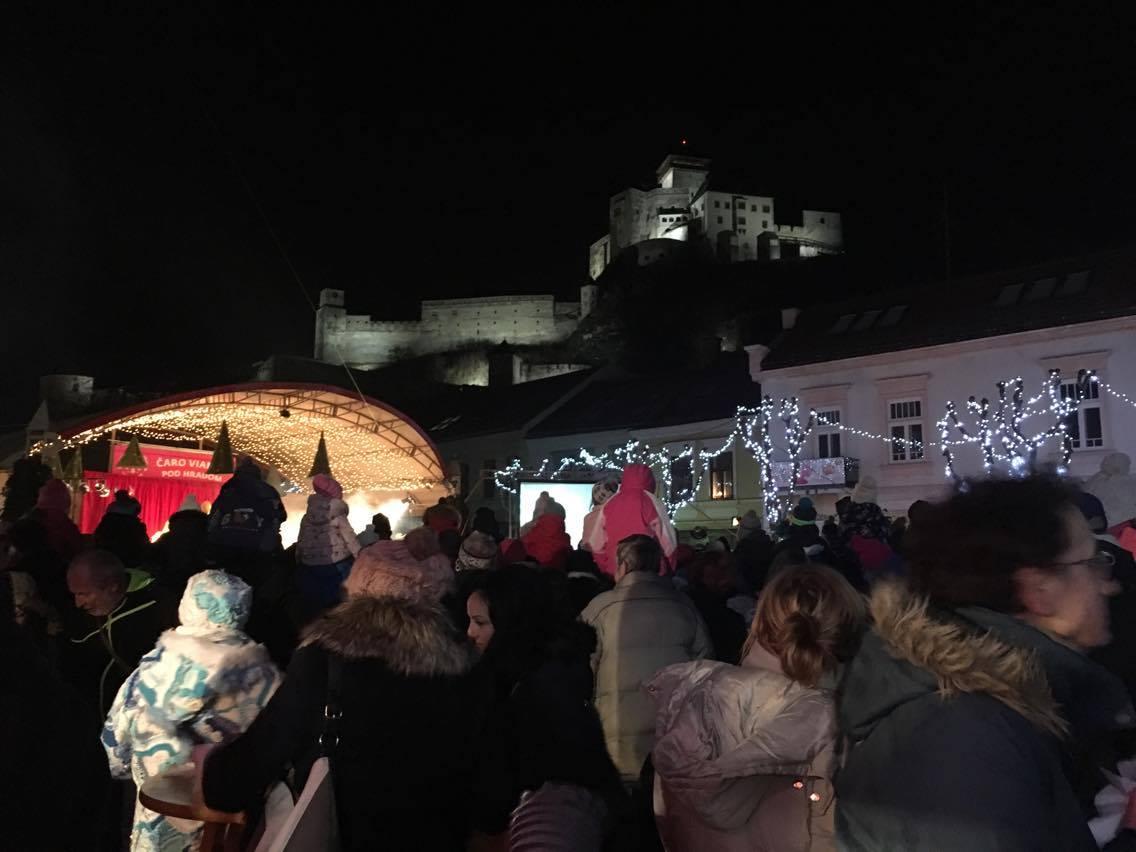 Vianočné trhy v Trenčíne. Zdroj: Romana Šebíková
