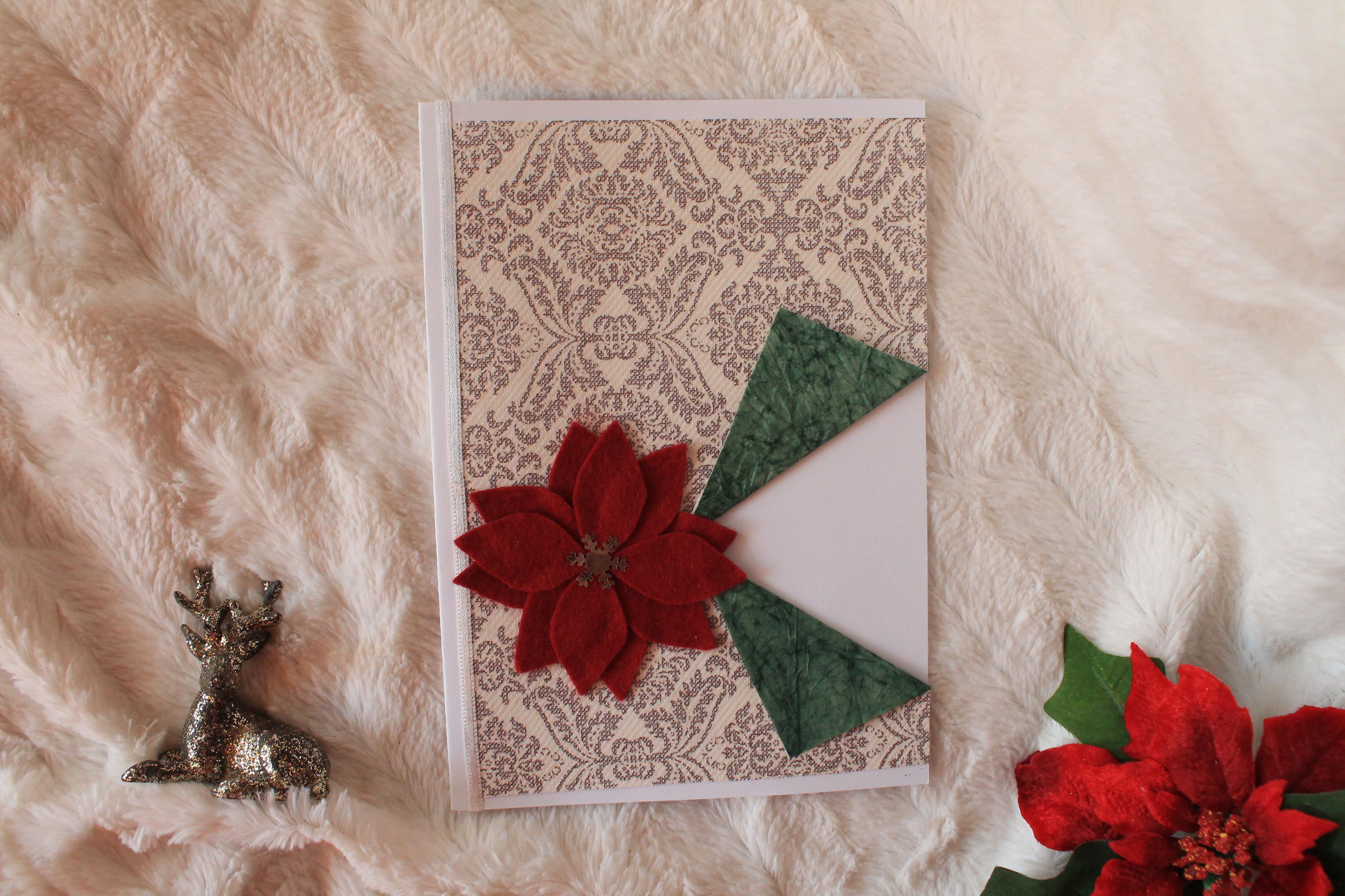 SERIÁL: vlastnoručne vyrobené vianočné pohľadnice: Vianočná ruža