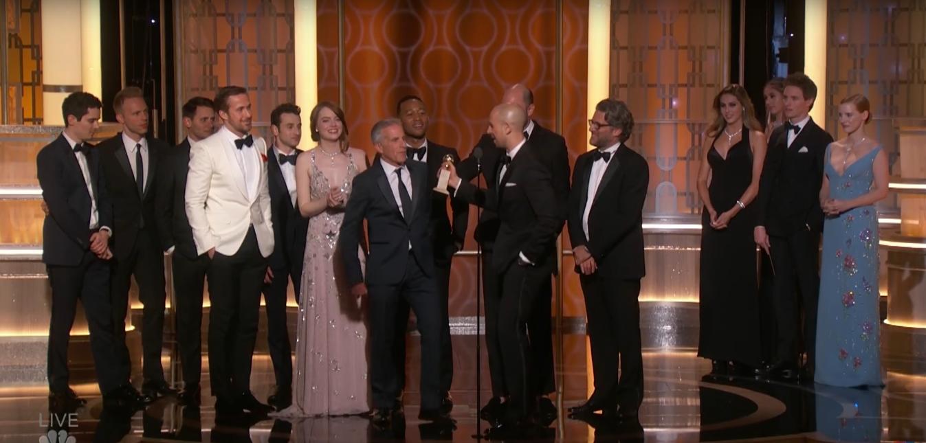 La La Land sa stal najúspešnejším filmom tohtoročných Zlatých glóbusov!