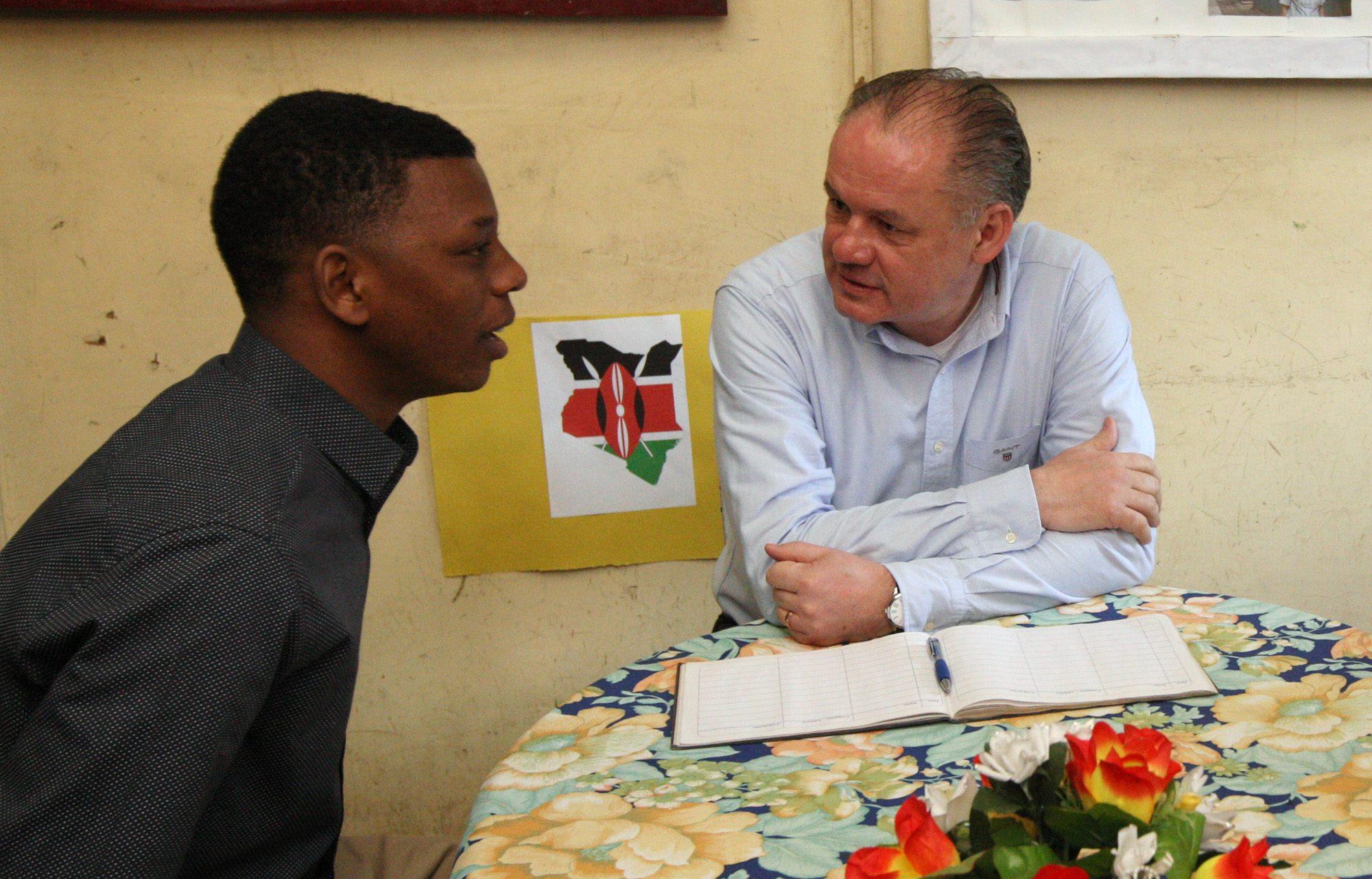 Benson sa stretol s prezidentom Kiskom(zdroj: Facebook/Andrej Kiska)