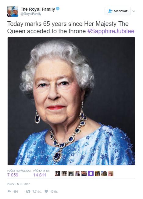 Kráľovná Alžbeta II. (zdroj: Twitter/Kensington palace)