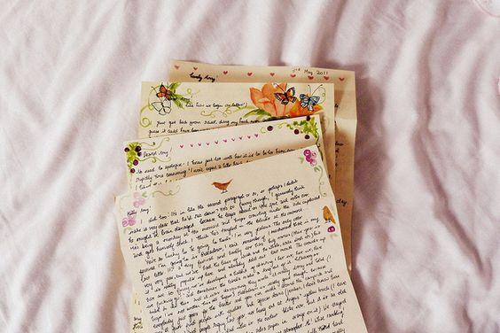 písanie listov penpalling