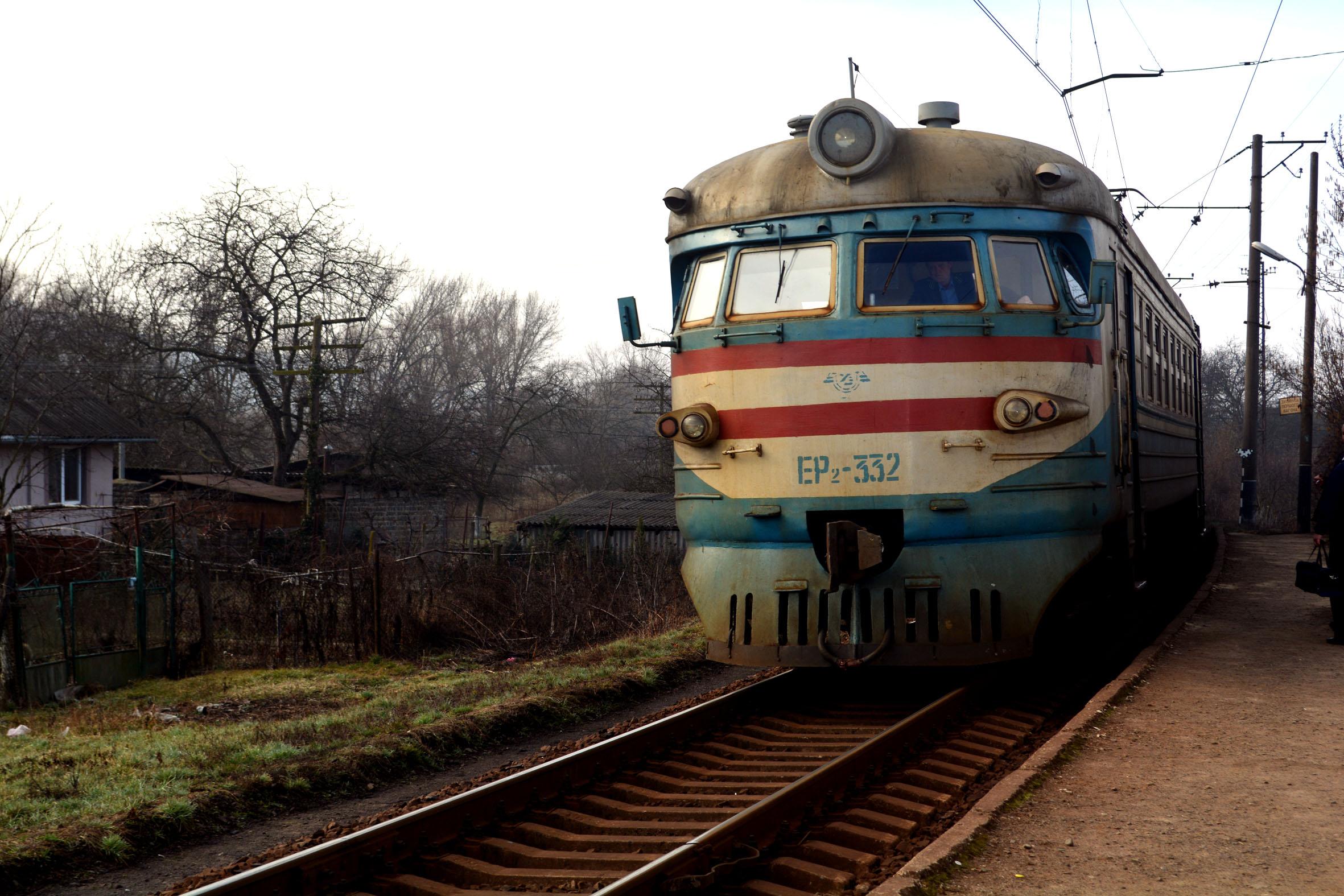 Vlaková doprava na Ukrajine. Zdroj: archív Jany Pavelekovej