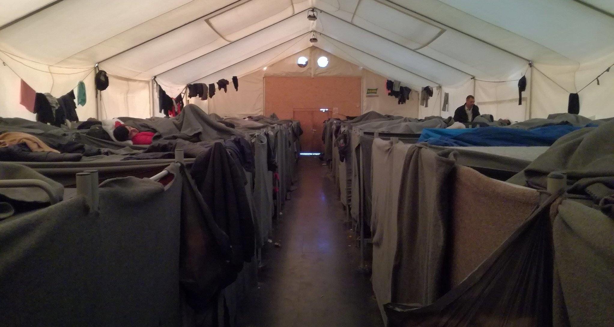 utečenecké tábory v Srbsku