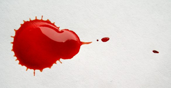 Krvavý červený fľak
