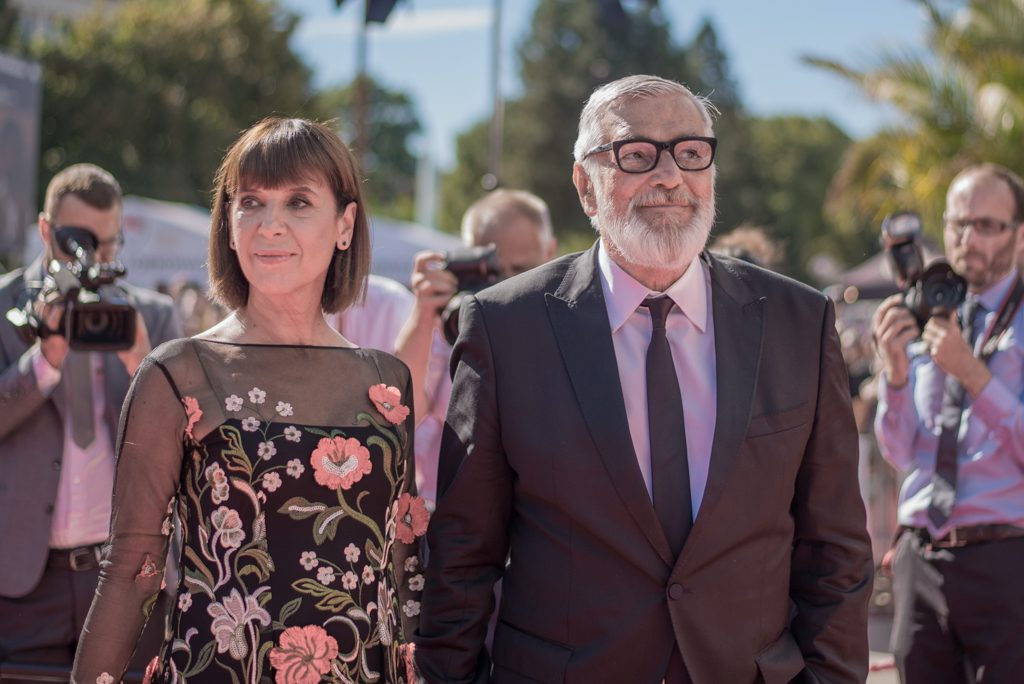 Bartoška s manželkou